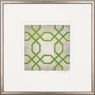 Green Classical Symmetry Framed Art Print