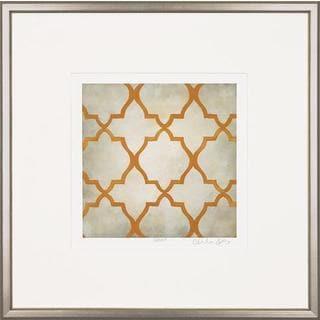 Orange Classical Symmetry Framed Art Print