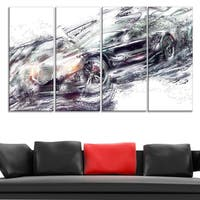 Abstract Black Super Car Large Gallery Wrapped Canvas