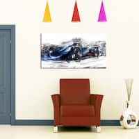 Black Speedster Car Small Gallery Wrapped Canvas - 32 in. wide x 16 in. high