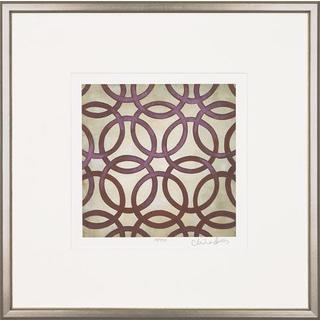 Purple Classical Symmetry Framed Art Print