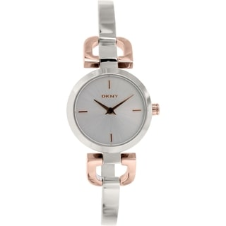 DKNY Women's D-Link NY2137 Silvertone Stainless Steel Quartz Watch