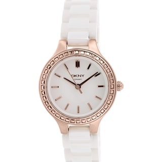 DKNY Women's NY2251 White Ceramic Quartz Watch