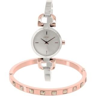 DKNY Women's Reade NY2271 Silvertone Stainless Steel Quartz Watch