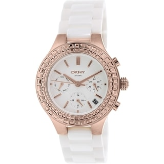 DKNY Women's Chambers NY2225 White Ceramic Quartz Watch