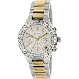 DKNY Women's Chambers NY2260 Silvertone Stainless Steel Quartz Watch|https://ak1.ostkcdn.com/images/products/9761871/P16933305.jpg?impolicy=medium