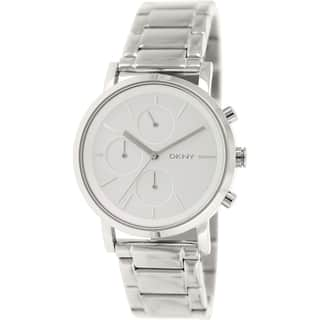 DKNY Women's NY2273 Silvertone Stainless Steel Quartz Watch|https://ak1.ostkcdn.com/images/products/9761872/P16933306.jpg?impolicy=medium