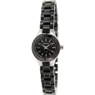 DKNY Women's NY8645 Black Ceramic Quartz Watch