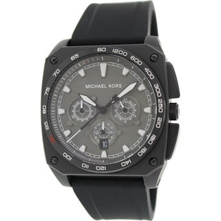 Michael Kors Men's Grandstand MK8390 Black Silicone Quartz Watch