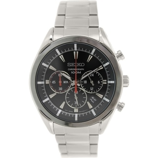 Seiko Men's SSB089 Stainless Steel Quartz Watch