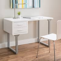 Clay Alder Home Retro White and Grey Writing Desk