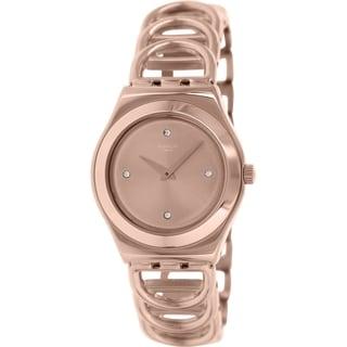 Swatch Women's Irony YLG126G Rose Gold Stainless Steel Swiss Quartz Watch