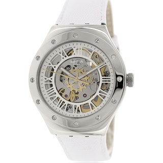 Swatch Women's Irony YAS109 White Leather Swiss Automatic Watch