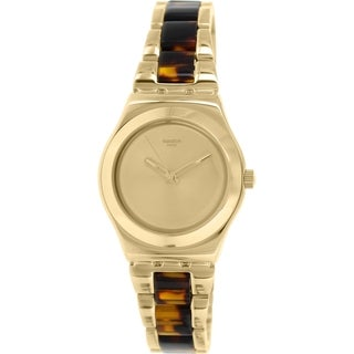 Swatch Women's Irony YLG127G Gold Stainless Steel Swiss Quartz Watch