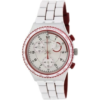 Swatch Men's Irony YCS1012 White Silicone Swiss Quartz Watch