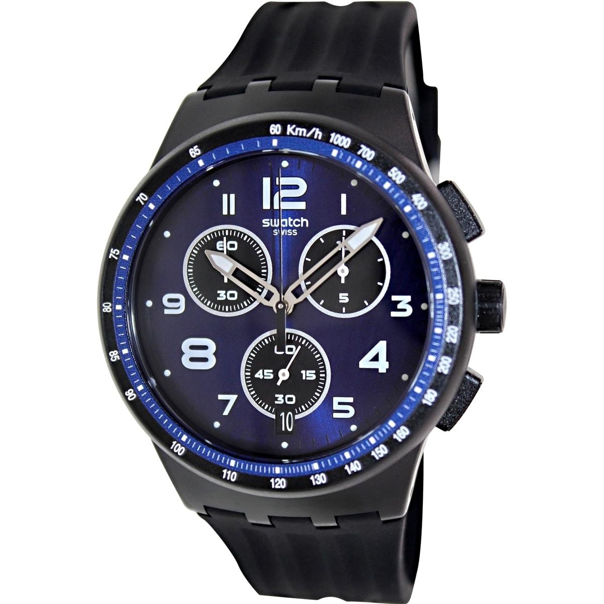 Swatch Men's Originals SUSB402 Blue Plastic Swiss Quartz ...