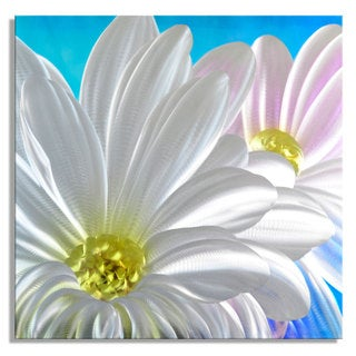 Fresh as a Daisy' Large Metal Wall Art 32 x 32-inches
