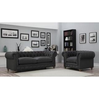Oxford Grey Linen Chair