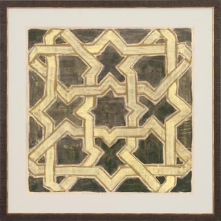 Moroccan Tiles Geometric Framed Art Print