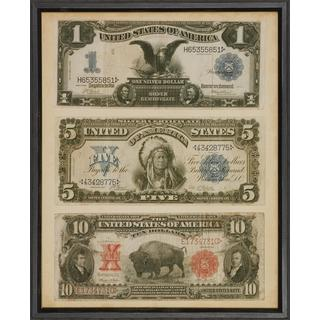 Antique American Currency Framed Art Print