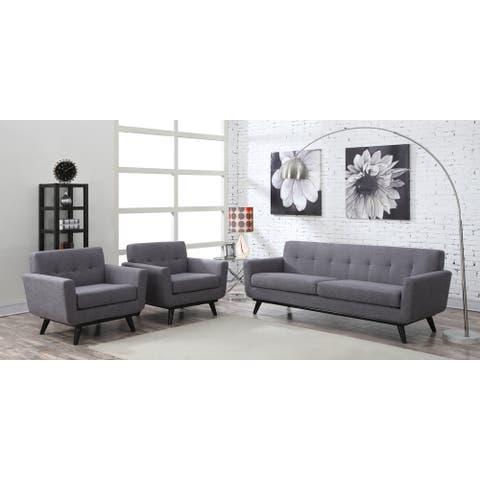 James Grey Linen Living Room Set