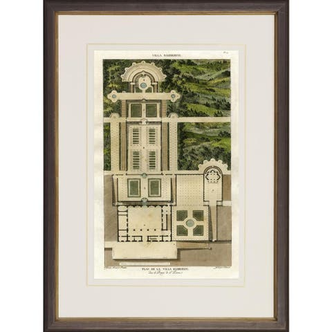 Villa Barberini Garden Plans Framed Art Print