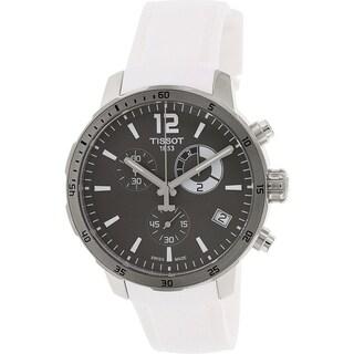 Tissot Men's Quickster T095.449.17.067.00 White Rubber Quartz Watch