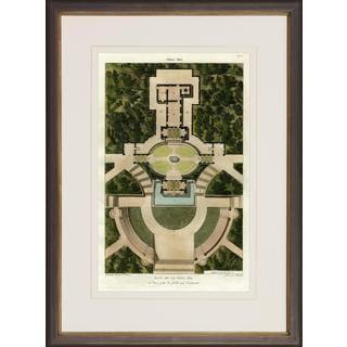 Villa Pia Garden Plans Framed Art Print