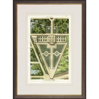 Villa Garden Plans Framed Art Print
