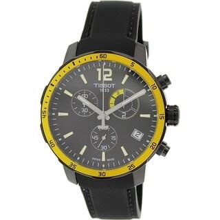 Tissot Men's Quickster T095.449.37.057.00 Black Silicone Swiss Quartz Watch