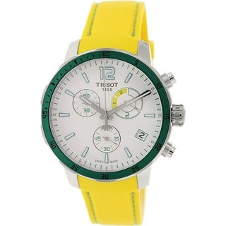 Tissot Men's Quickster T095.449.17.037.01 Yellow Rubber Swiss Quartz Watch
