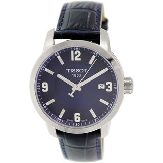 Tissot Men's Prc 200 T055.410.16.047.00 Blue Leather Swiss Quartz Watch