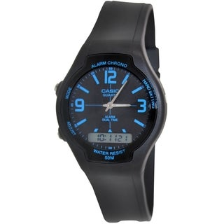 Casio Men's Core AW90H-2BV Black Resin Quartz Watch