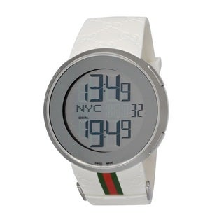 Gucci Men's Digital Rubber Strap Watch