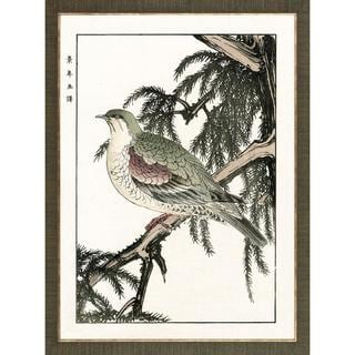 Aviary Woodblock Prints Bird Framed Art Print