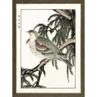 Aviary Woodblock Prints Bird Framed Art Print|https://ak1.ostkcdn.com/images/products/9762142/P16933519.jpg?impolicy=medium