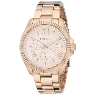 Fossil Women's Cecile AM4569 Rose Gold Stainless Steel Quartz Watch