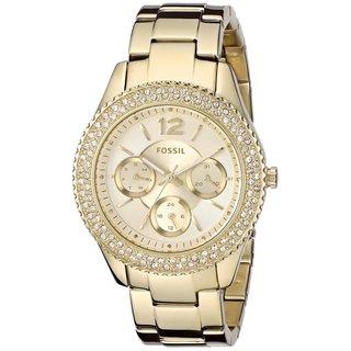 Fossil Women's Stella ES3589 Gold Stainless Steel Quartz Watch