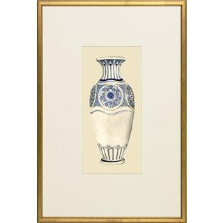 White/ Blue Embellished Art Nouveau Vases Framed Art Print