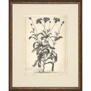 'Etched Floral' Vintage Framed Art Print
