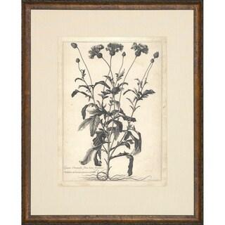'Etched Floral' Vintage Framed Art Print - multi