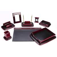 9-piece Mahagony Oak Wood Desk Set