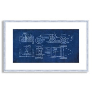Gallery Direct St. John's 'Racecar Blueprint' Framed Paper Art