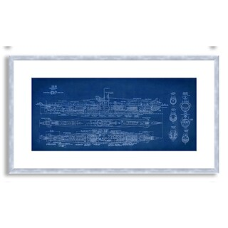 Gallery Direct St. John's 'Submarine Blueprint' Framed Paper Art