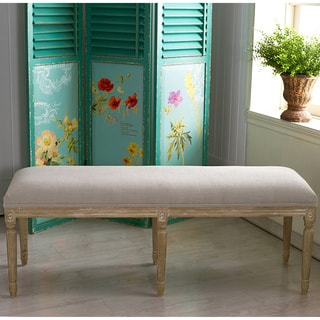 Clairette Wood Traditional French Bench