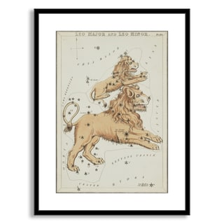 Gallery Direct Sidney Hall's 'Leo Major and Leo Minor' Framed Paper Art