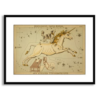 Gallery Direct Sidney Hall's 'Monoceros, Canis Minor, and Atelier Typographique' Framed Paper Art
