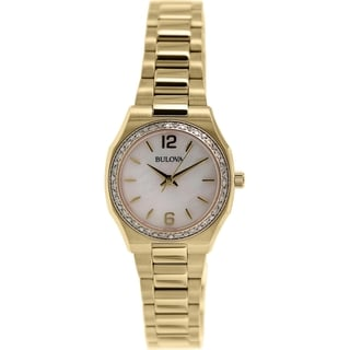 Bulova Women's Diamond 98R205 Rose-gold Stainless Steel Quartz Watch