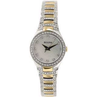 Bulova Women's Crystal 98L198 Stainless Steel Quartz Watch