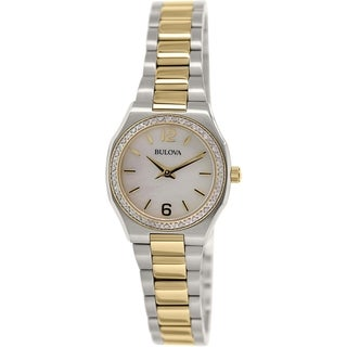 Bulova Women's Diamond 98R204 Stainless Steel Quartz Watch